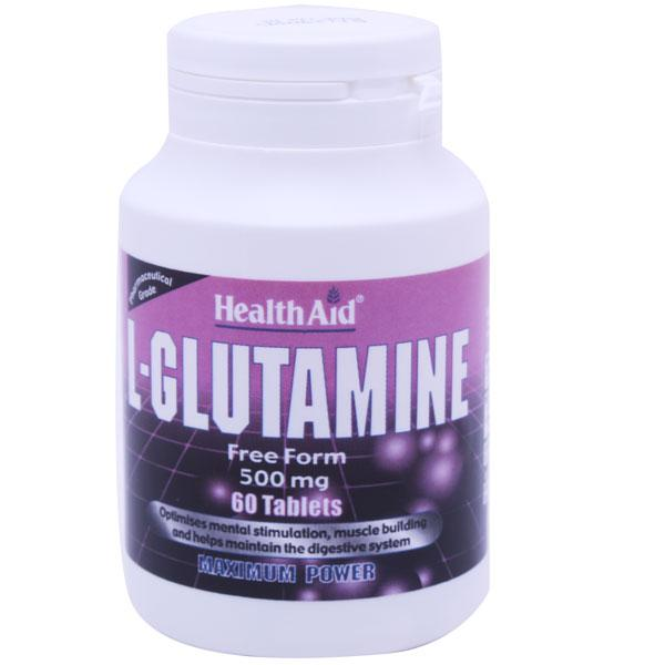 HealthAid L-Glutamine 500mg Tablets