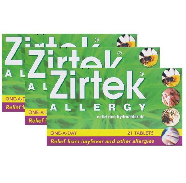 Zirtek Allergy Tablets Triple Pack