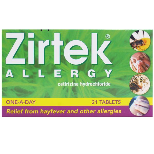 Zirtek Allergy Tablets