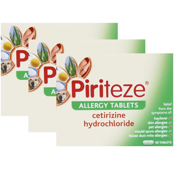 Piriteze Allergy Tablets One A Day Triple Pack