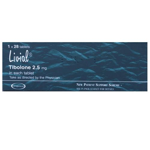 Livial (Tibolone) 2.5mg Tablets