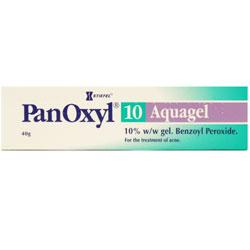 Panoxyl Aquagel 10 for the treatment of Acne