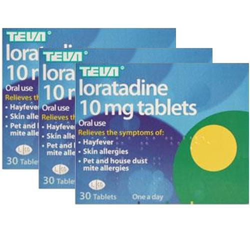 Loratadine 10mg 30 Tablets Triple Pack