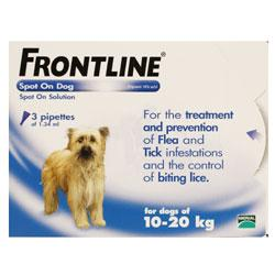Frontline Spot On for Medium Dogs - 10kg to 20kg