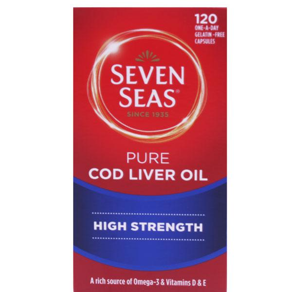 Seven Seas High Strength Pure Cod Liver Oil Capsules