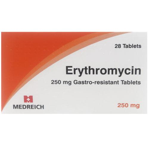 Erythrocin 250mg Tablets