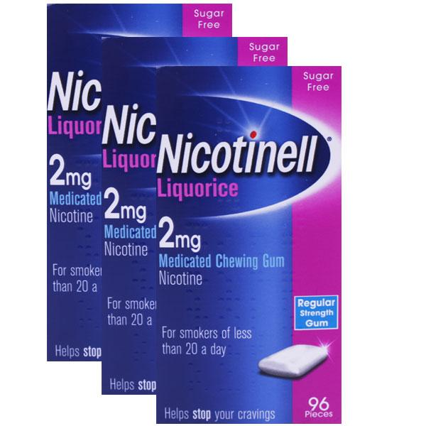 Nicotinell Liquorice 2mg Chewing Gum Triple Pack