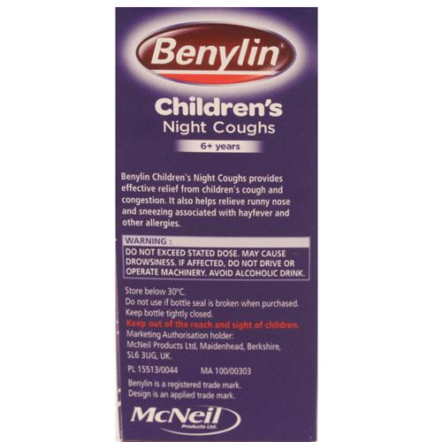 Benylin Night Time Cough Syrup For Shot Babies Flu Is What ...