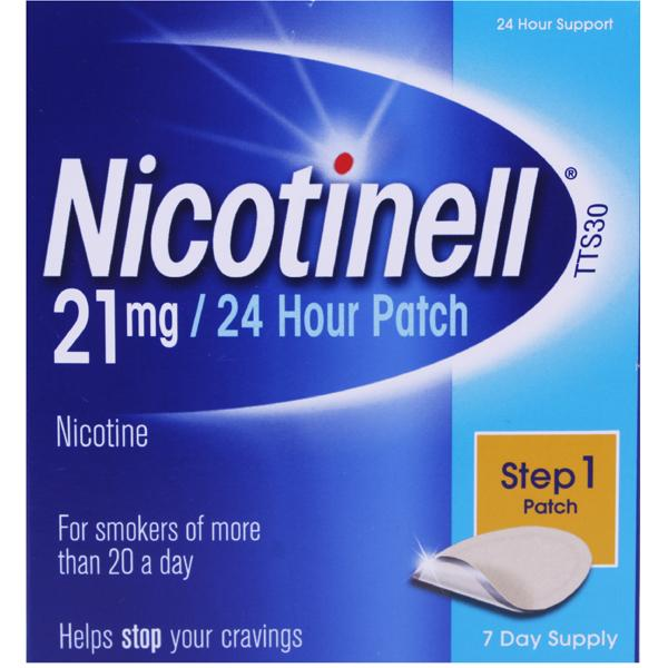 Nicotinell 21mg 7 Day 24 Hour Patch Step 1