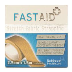 Fast Aid Stretch Fabric Strapping 2.5cm x 1.5m