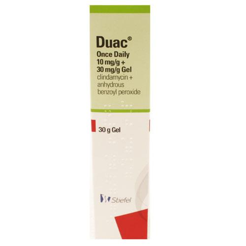 Duac Once Daily (Benzoyl Peroxide 3%, Clindamycin 1% ) Gel 30g