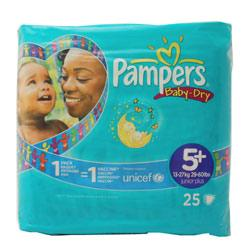Pampers Baby Dry 5+ Junior Plus Nappies