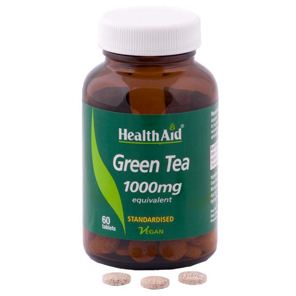 HealthAid Green Tea 1000mg Tablets