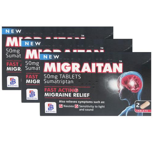 Migraitan 50mg Tablets Triple Pack