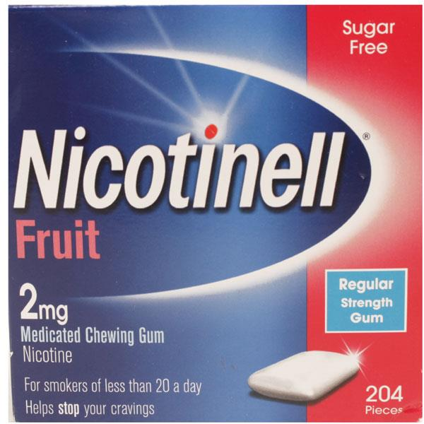 Nicotinell 2mg Medicated Chewing Gum Fruit