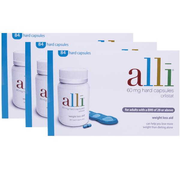 alli 60mg Capsule- 84 Triple Pack (3 Months Supply)