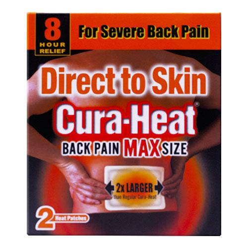 Cura-Heat Direct To Skin Max Back Pain