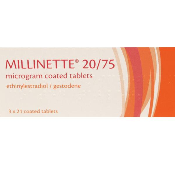 Millinette 20/75 Mircogram Coated Tablets
