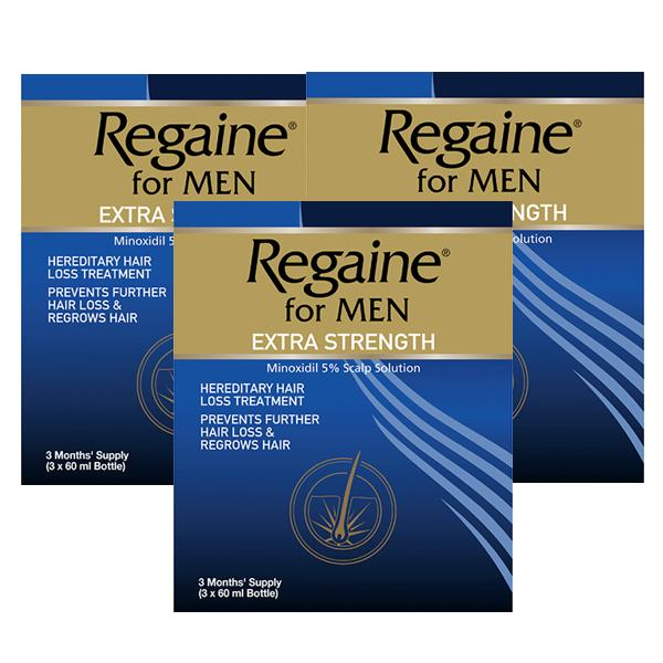 Regaine Extra Strength For Men Triple Pack x 3